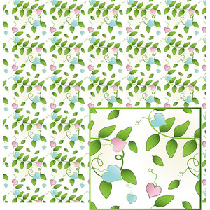 hearts and vines pattern