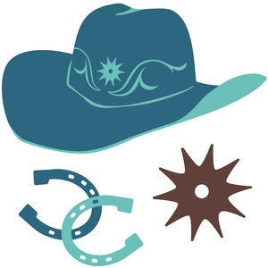 cowboy hat and accessories