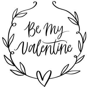 be my valentine wreath