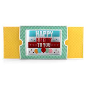 sliding shadow box card happy birthday to you