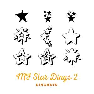 mf star dingbats