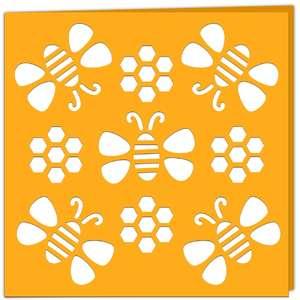 honey bees card