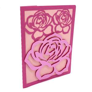 rose flowers card