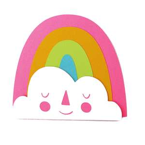 rainbow and cloud card