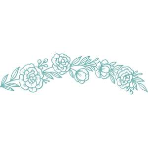 curved flower border