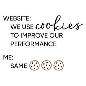 website: we use cookies phrase