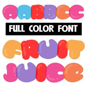 fruit juice color font