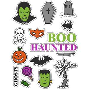 ml scary spooky halloween stickers