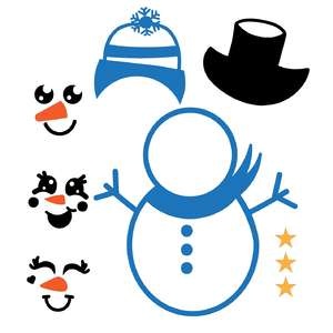 snowman faces design