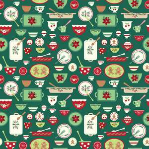 holiday dishes pattern
