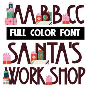 santa's workshop color font
