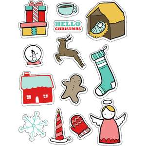 ml hello christmas stickers