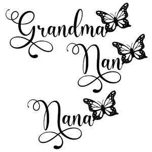 grandma nan nana butterfly words