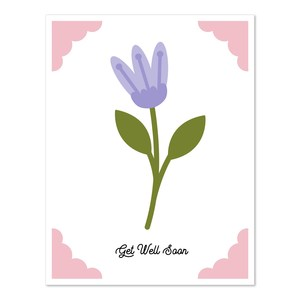 a2 insert card flower get well soon