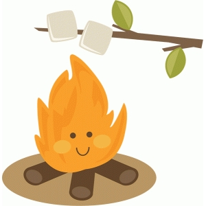 cute campfire roasting marshmallows