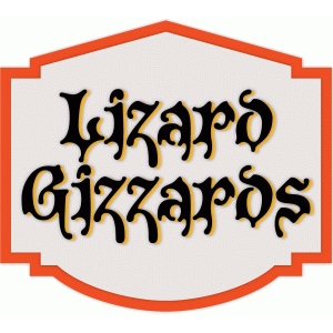 lizard gizzards halloween label
