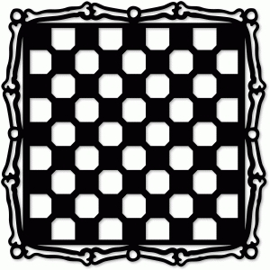 checker bones placemat overall design