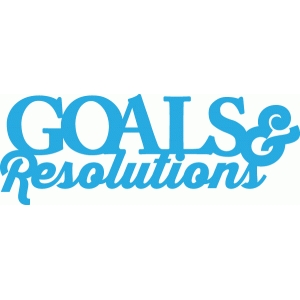 goals & resolutions