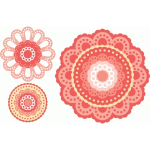 layered eyelet flower
