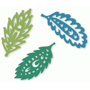 fancy folk art leaves