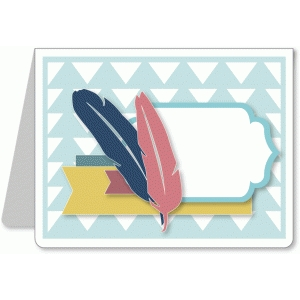 a2 card kit - feather arrow pattern