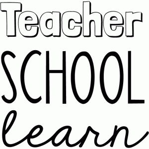 teacher, school and learn