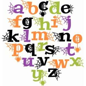 halloween letters lowercase