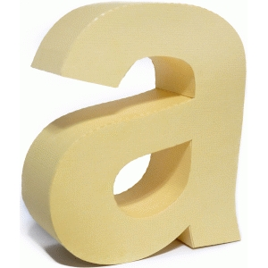 3d lowercase letter block a