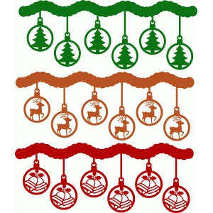 christmas ornaments borders set