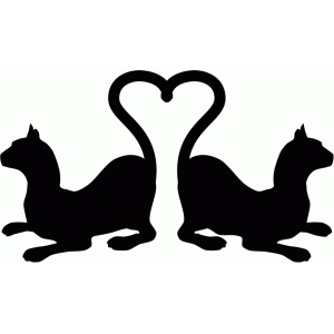 cats with heart tails