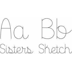 sisters sketch font