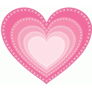 nested cross stitch hearts