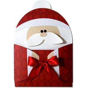 santa hug gift card holder