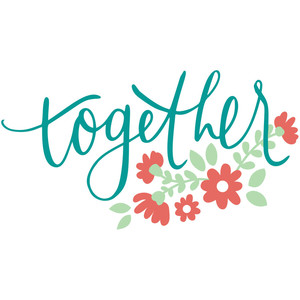 together handlettered