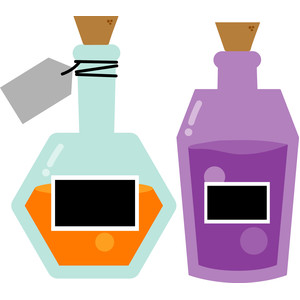 potion bottle set - boos & brews