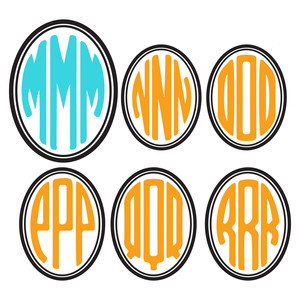 oval monogram letters m-r
