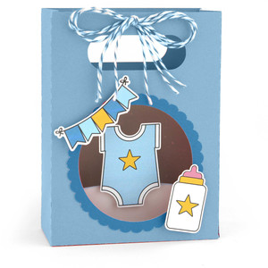 shadowbox gift card bag baby boy
