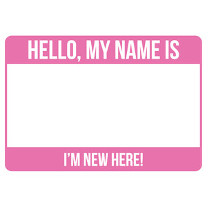 hello name badge