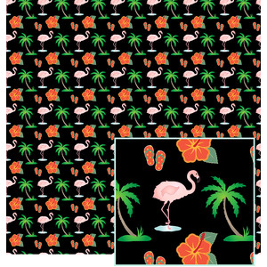tropical-look paper