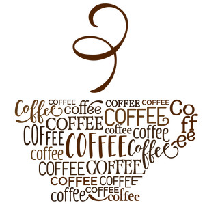 word collage - coffee