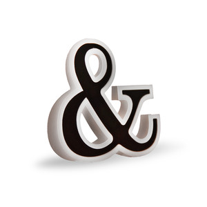 3d flat fold ampersand and sign