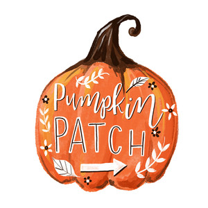 pumpkin patch lettering print