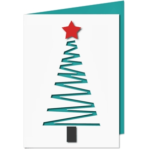 cutout christmas tree card
