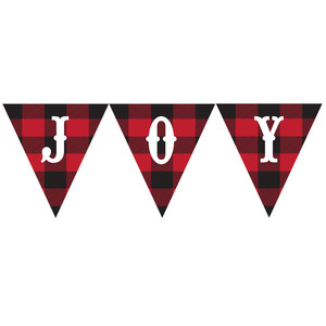 buffalo plaid banner