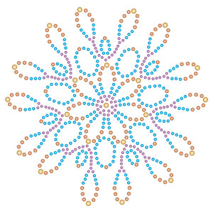 large rhinestone flower