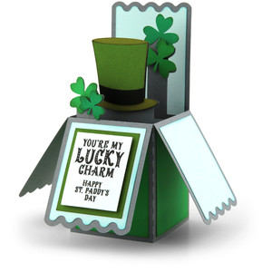 box card st. patrick's hat