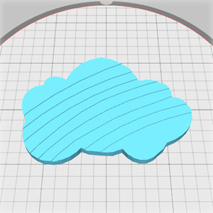 cloud box with rainbow pattern