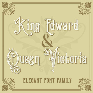 king edward & queen victoria