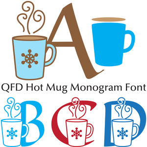 qfd hot mug monogram font