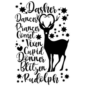 christmas reindeer names